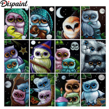 Dispaint Full Square/Round Drill 5D DIY Diamond Painting Cartoon owl landscape 3D Embroidery Cross Stitch Home Decor Gift