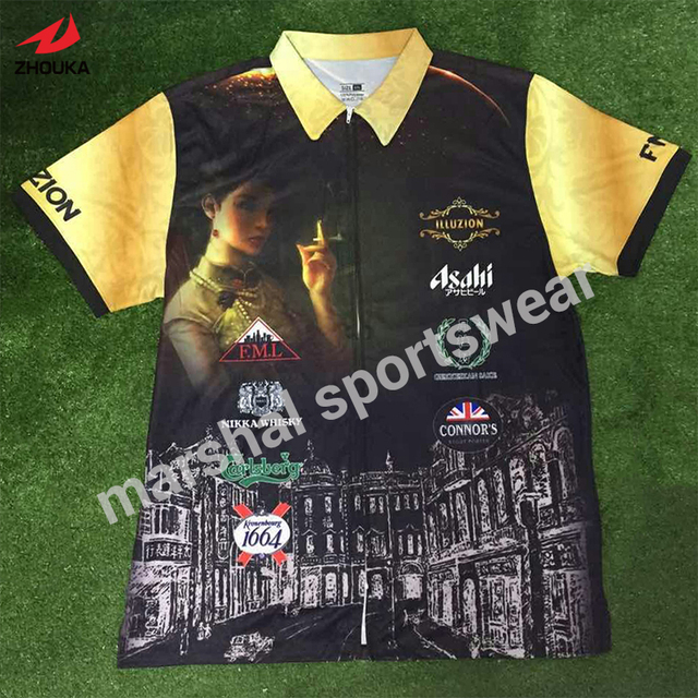 custom soccer jersey 100%polyester top quality sublimation customized polo collar jersey
