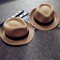 Bebê Menina Menino Miúdos das crianças Lovely Fashion Chapéu de Palha Praia Cap Chapéu de Sol de Verão para 3-10 Ano Crianças