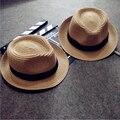 Los niños del Bebé Niños Sombrero para el Sol Sombrero de Paja Casquillo de la Playa del Verano de La Manera Encantadora para 3-10 Años Niños