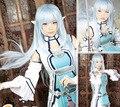 Free Shipping Sword Art Online Asuna Yuuki Cosplay Wig High Quality 95cm Long Water Blue Anime Wigs