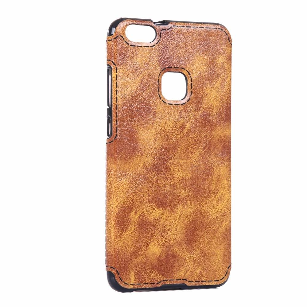 För Huawei P10 Lite Väska Mjukt TPU Läder Klistra in huden Silikon - Reservdelar och tillbehör för mobiltelefoner - Foto 5
