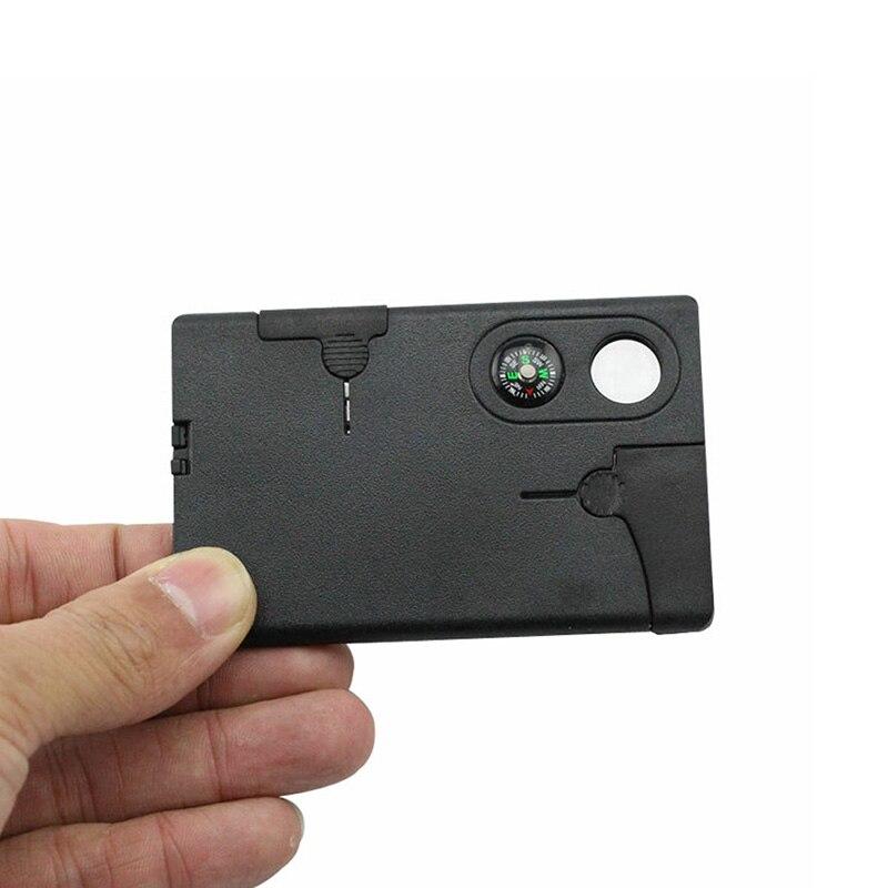 2019 en gros 9 en 1 Portable Durable carte couteau tactique EDC outil Sports de plein air Camping survie auto-défense équipement