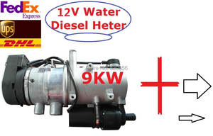 GIFT + 9kw 12 V Water Diesel Heater For Bus Truck Similar With Webasto Auto Parking
