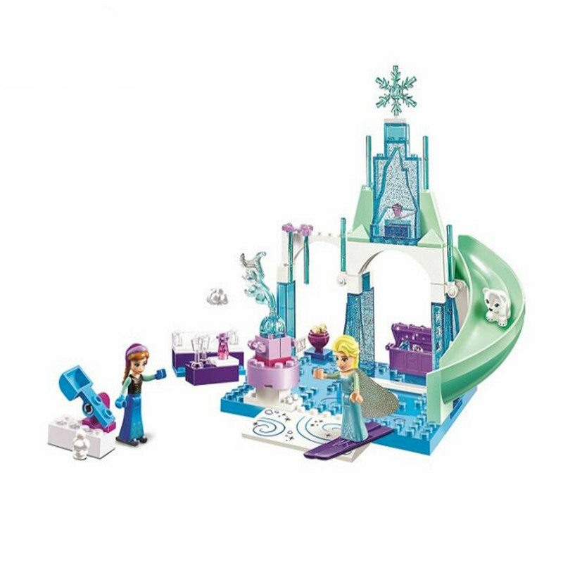 Bale 10665 Snow Queen Arendelle Castle Building Blocks Princess Anna Elsa Buildable Compatible with Legoe Princess lepin 01018 snow queen princess anna elsa building block 515pcs diy educational toys for children compatible legoe