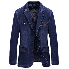 European and American Style Men 's Denim Jackets High Quality Design Spring Brand Mens Denim Jacket and Coat Plus Size 4XL C896