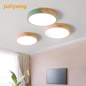 Современная светодиодная потолочная лампа juliyang в скандинавском стиле, круглый потолочный светильник для спальни, кухни, гостиной, домашнег...