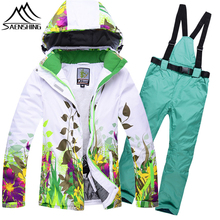 Waterproof Windproof Skiing Jacket Suits For Women Winter Outdoor Snow Coats Thermal Warmth Pants Mountaineer Snowboard Clothes