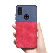 for Xiaomi Mi A2 Case XiaoMi 6x Mi6x Soft TPU edge shockproof jeans fabric back cover MiA2