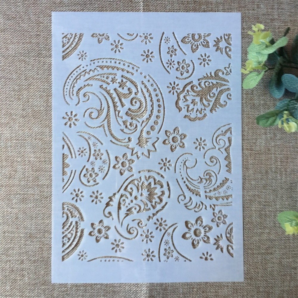 29*21cm Round Circle Leaves DIY Layering Stencils Painting Scrapbook Coloring Embossing Album Decorative Paper Card Template