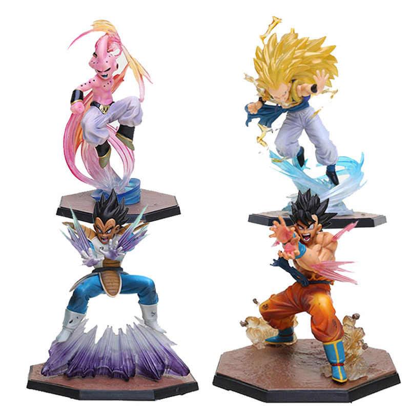 4 estilos Kamehameha De Dragon Ball Z Super Saiyan Goku Vegeta Super Saiyan 3 Bomba Espírito Majin Buu Gotenks Ação figura de Brinquedo