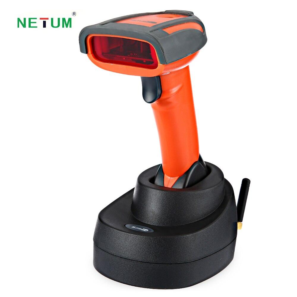 Netum nt-2800 беспроводной 1D сканера штриховых кодов аккумуляторная scanister с базовыми