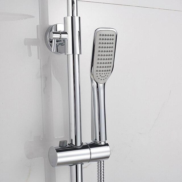 NANW Bathroom Washroom Shower System Round ABS Shower Head Quiet ...