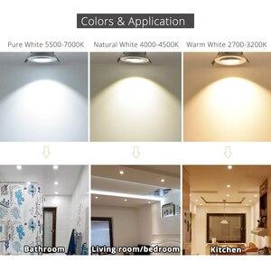 Image 3 - 20 шт./лот оптовая продажа 3 Вт 4 Вт 5 Вт 7 Вт светодиодный встраиваемый потолочный светильник коридорный белый корпус чистый/натуральный/теплый белый