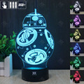 HY BB-8 3D Remote LED Night Light Touch Table Desk Lamp 7 Color Change USB LED Charger Gift Multifunction Card