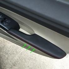 Для Honda Civic 8th Gen 2006 2007 2008 2009 2010 2011 автомобиля микрофибра кожа центр/дверные ручки подлокотник панель накладка