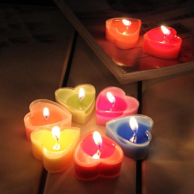 Romantic Heart-Shape Candles