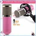 BM-800 HighQuality Professional Condensador Sound Studio de Gravação Com Fios de Microfone Rosa Com O Choque de Montagem Para O Rádio Broadcasting