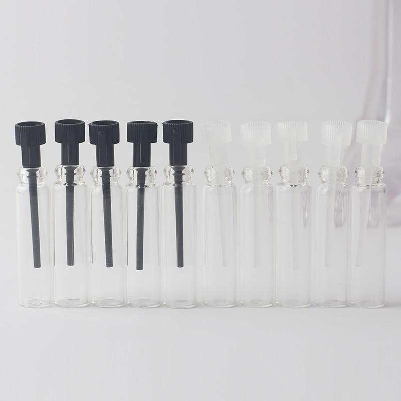 1ML 1CC Mini Glass Perfume Vials, 1ml Glass Bottle, Parfum Sample Vial, Tester Perfume Tube Bottle With Drop Rod 5Pcs