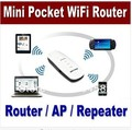 Envío Libre y Envío de La Gota De bolsillo Mini 7en1 USB Travel 802.11 b/g/n AP Client 150 Mbps Wireless Router WiFi Repetidor