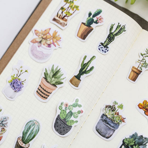 Image 5 - 20packs/lot sveglio serie di piante grasse autoadesivo etichetta della decorazione di DIY dress up per dairy album segnalibro allingrosso