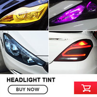 12 Rolls/Lot 12Colors mix Glossy Car Headlight Fog Tail light Tint Vinyl Light Film Vinyl Wrap Car Headlight shipping