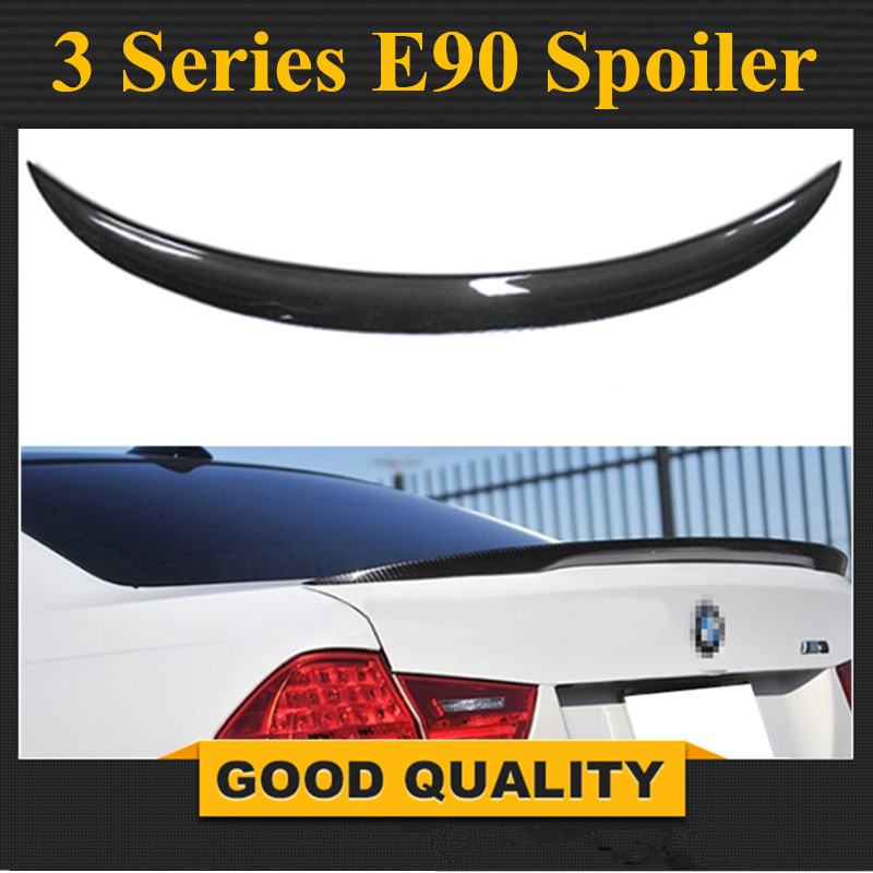 M performance P style Carbon fiber rear trunk spoiler wing replacement part for BMW 3 series E90 2005 2011 sedan vehicle 320i