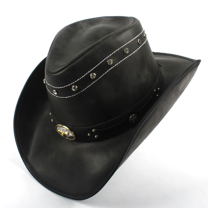 Western Leather Cowboy Hats for Women & Men 13