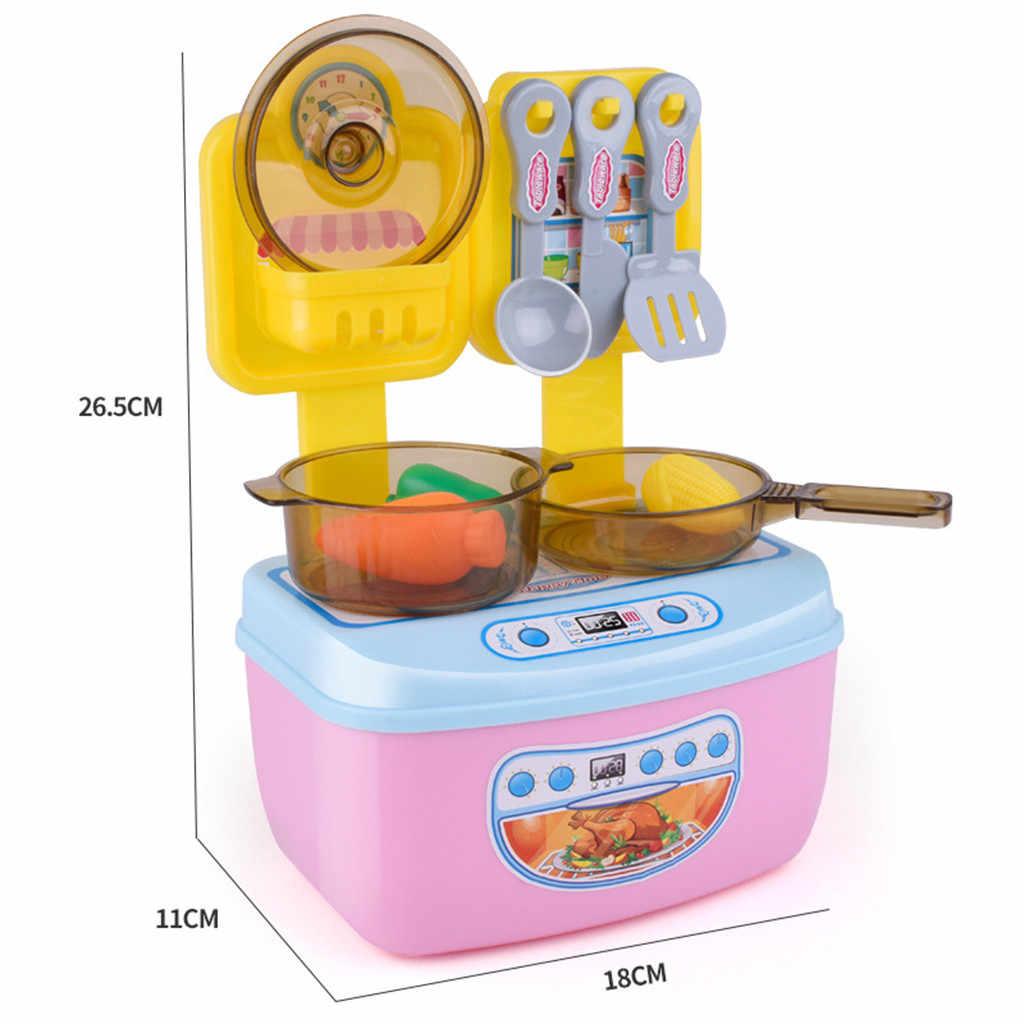 Dla dzieci dziewczyna udawaj zagraj zabawki dla dzieci kuchnia gotowanie Mini zestaw domek dla lalek zabawki dla dzieci z tworzywa sztucznego udawał, że Pan Pot zabawki domek do zabawy