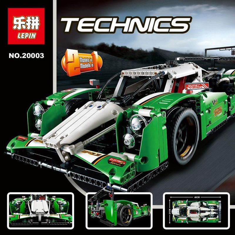 1249PCS 20003 Technic Series The 24 hours Race Car Building Assembled Blocks Enlighten Toy Compatible Legoing Creator 42039 цена