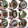 101 tipos de Opção de Metal Banqueiro Chips, Acessórios de Cartão De imprensa, Acessórios de Alta Qualidade Fichas de Poker Texas Hold'em