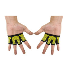 Body Building Fingerless Breathable Anti-skid Weightlifting Crossfit GYM Weight Lifting Gloves Barbell Dumbbells Palm Protect