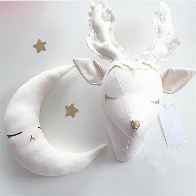 Online Shop Nordic Unicorn Stuffed Toys Animal Head Wall Mounts ...