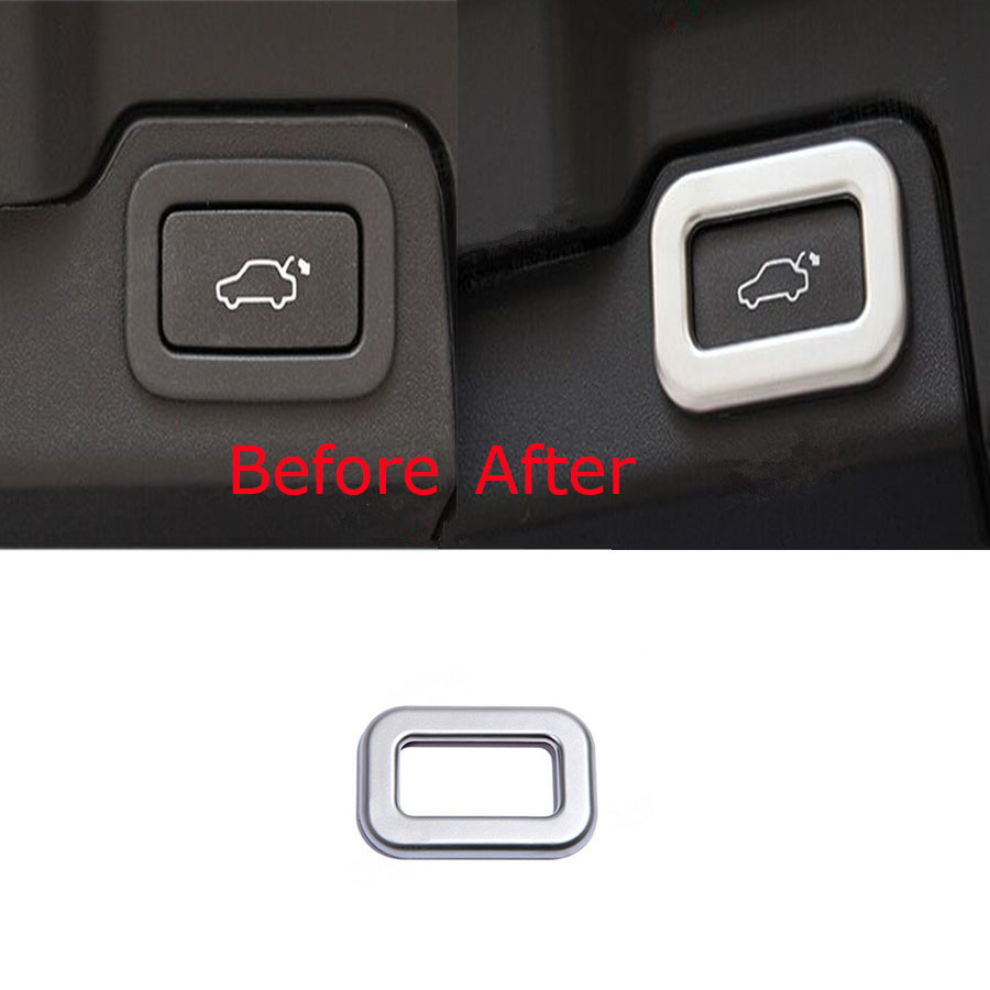 YAQUICKA Interior Car Rear Tail Trunk Door Button Knob Switch Frame Cover Trim For Land Rover Range Rover Discovery Sport Evoque