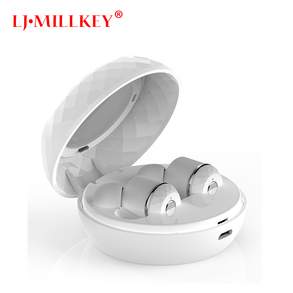TWS Invisible Mini Headset 3D Stereo Hands-free Noise Reduction Bluetooth Headset Wireless Earphones and Power Bank box YZ137 mini wireless headphone bluetooth earphone earbuds airpods tws headset for hands free calling with power bank for mobile
