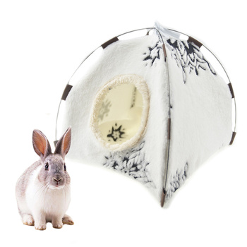 Cute Guinea Pig Hamster House Bed Hammock Winter Warm Squirrel Hedgehog Chinchilla Bed House Tent Cage Nest Hamster Accessories 1