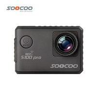 24fps SOOCOO S100 Pro 4 K 2 K 30fps Wifi Acción de la Pantalla Táctil Girocompás de la cámara 1080 P Full HD A Prueba de agua Al Aire Libre Mini DV Videocámara Deporte
