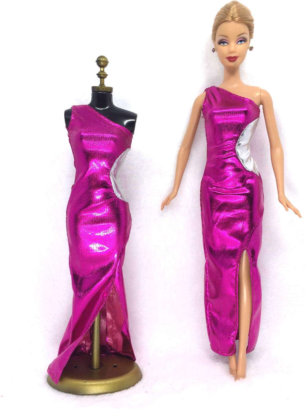 NK 2018 Newest Doll Dress Beautiful Handmade Party ClothesTop Fashion Dress For Barbie Noble Doll Best Child Girls'Gift 043A
