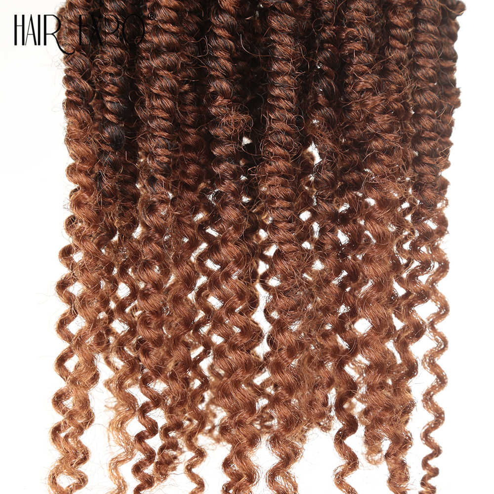 Hair Expo City Bomb Twist Crochet Braids Synthetic Hair Extension Ombre Spring Twist Kinky Curly For Afro Women