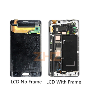 Image 2 - SUPER AMOLED For SAMSUNG Galaxy Note 4 Edge lcd N915 N915FD N915F LCD touch screen Digitizer Assembly with Frame repair parts