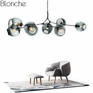 Image 1 - Современная люстра в скандинавском стиле, светодиодный потолочный светильник в стиле индастриал для гостиной, спальни, кухни, подвесные осветительные приборы