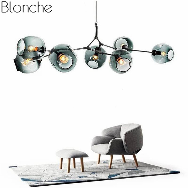 Nordic Modern Chandelier Branching Bubble Industrial Led Lamp Ceiling Chandelier Lighting for Living Room Bedroom Light Fixture