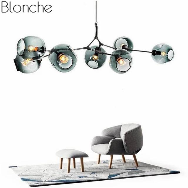 Nordic Modern Chandelier Lindsey Adelman Branching Bubble Industrial Led Lamp Chandelier Lighting for Living Room Light Fixture