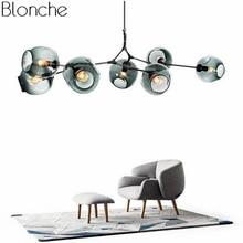 북유럽 현대 샹들리에 산업 led 램프 천장 샹들리에 조명 거실 침실 부엌 매달려 전등