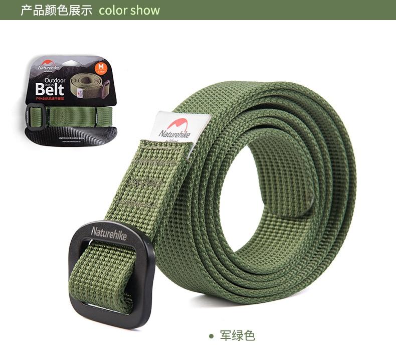 Cinturón de cintura Naturehike para hombre de nailon militar cinturones tácticos para Mujer Deporte al aire libre cinturón de secado rápido ejército Verde Negro púrpura
