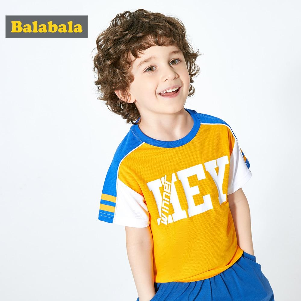 T-Shirt Boy Balabalachildren's-Wear Short-Sleeve Bottoming Baby Summer New Fashion Tide