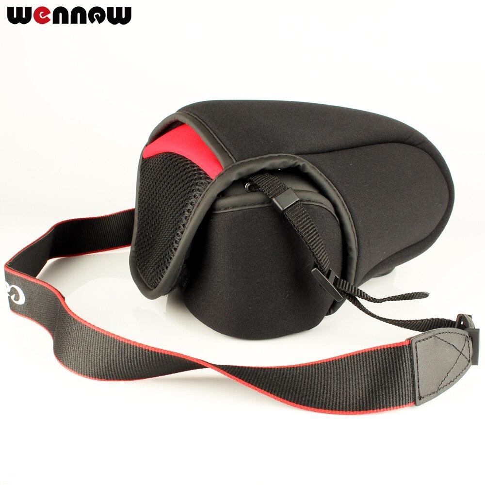 Wennew caja de bolsa de cámara paquete suave para Canon EOS M50 M100 M200 M6 M5 M3 M2 M 200D 1200D 1300D 15-45 18-55mm lente