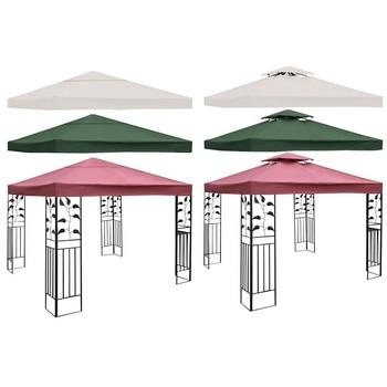 10 x 10' 2-Tier na płótnie namiot z baldachimem Top pokrycie dachowe Patio materiał na zasłony Shade akcesoria wymiana ogród dostawca