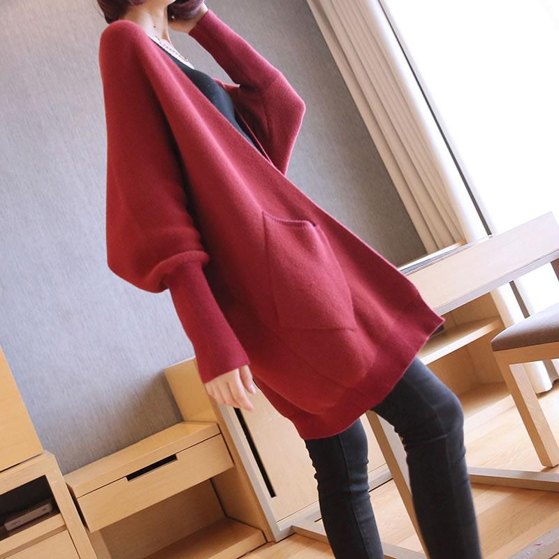 Pleine Cardigans Pull V Mode Solide red Corée Femmes Printemps Blue Dll2821 khaki Dll2821 neck Dll2821 Couleur Tricoté Nouveau Été xitao2019 Lâche Manches Décontracté WHED92I