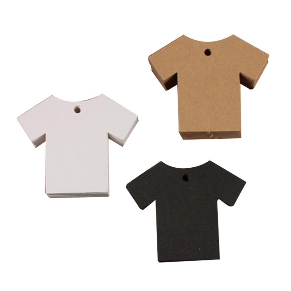 50pcs Handmade Clothes Shape Korea Retro Thick Craft Paper Business ...
